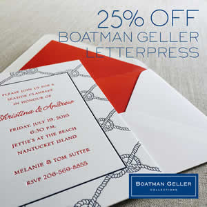 Boatman Geller Letterpress Stationery